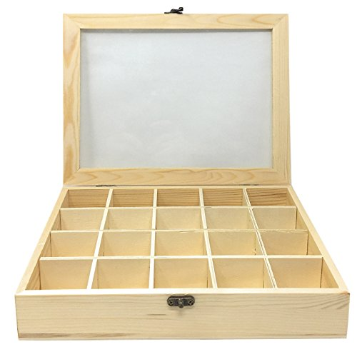 Acan Todo menaje-Caja de Madera con 20 Compartimentos