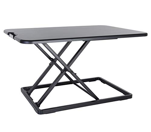 Conquer Compact Standing Desk Height Adjustable Monitor Rise Tabletop Sit to Stand Workstation