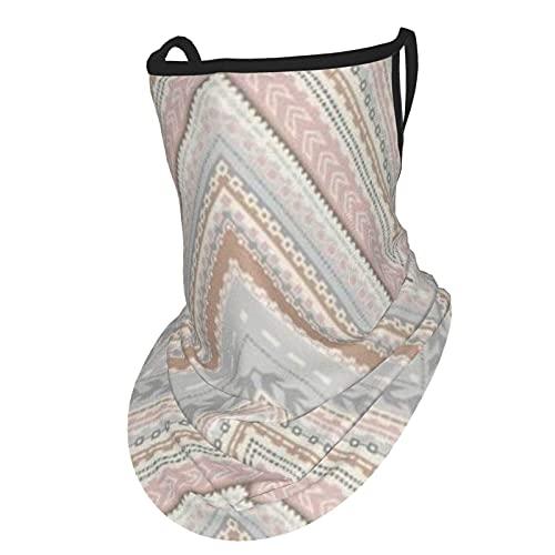 asdew987 Grandeco Reflect - Pañuelo de plumas para la cara con bucles para las orejas de seda para el cuello, pasamontañas para hombres y mujeres