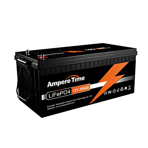 12V 200Ah Lithium Iron LiFePO4 Deep Cycle Battery, Built-in 100A BMS, 2000+ Cycles, 280amp Max, Perfect for RV, Solar, Marine, Overland, Off-Grid Application;