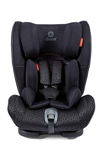 Diono Orcas NXT Fix ISOFIX - Asiento de coche convertible para coche, grupo 1/2/3, orientado hacia adelante, seguridad y protección, 9 kg - 36 kg, aprox. 9 meses - 12 años, color negro