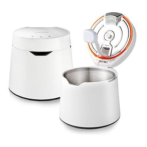 CarePod 31S Stainless Steel Ultrasonic Cool Mist Humidifier Whisper-Quiet Easy Clean for Large Room 1gal (4liter), Only 3 Washable Parts, Auto Shut-off, Reusable Filter Aroma Diffuser, Nursery, Baby, Kids Bedrooms