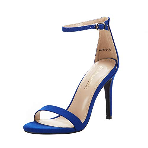 DREAM PAIRS Women's Karrie Royal Blue High Stiletto Pump Heeled Sandals Size 9 B(M) US