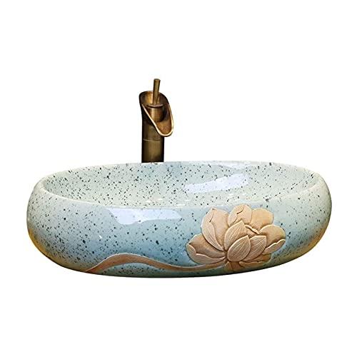 Macro Salle de Bain, évier de Vaisseau Ovale, Ovale au-Dessus de l'évier de Cercle pour la vanité de lavabo d'armoire