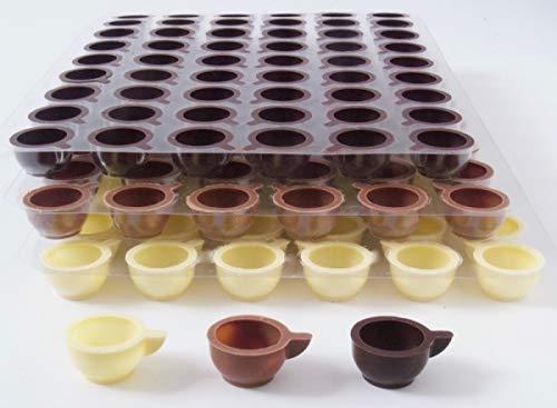 3 Set Schokoladen Tassen Weiß-Vollmilch-Zartbitter