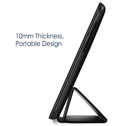 Simpeak Hülle Kompatibel für Huawei Mediapad T5 10.1, Ultra Dünn mit Standfunktion Kompatibel mit Mediapad T5 10.1 Zoll Schutzhülle Case - Schwarz
