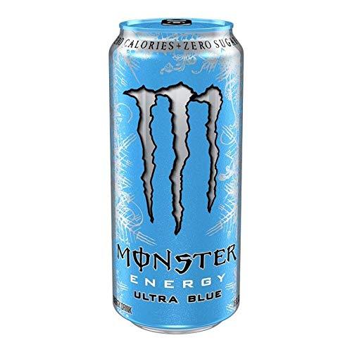MONSTER ENERGY ULTRA BLUE (Mirtillo Mora Uva) - Energy Drink Bevanda Analcolica Zero Calorie 500ml