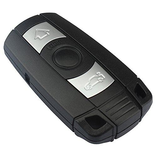 1x Ersatz Schlüsselgehäuse mit 3 Tasten Klappschlüssel Auto Schlüssel Chiavi Schlüssel Rohling HU92 Fernbedienung Funkschlüssel Gehäuse (Version B Deckel auf Gehäuserückseite (Comfort Zugang) -INION