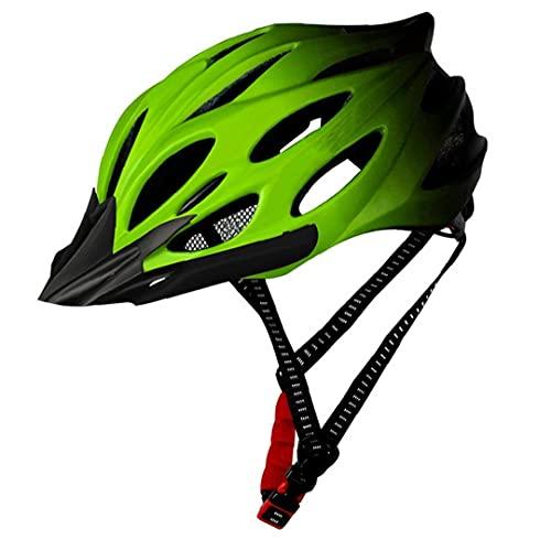 Uayasily Adulto Bici del Casco con La Bicicleta Luz De La - Ajustable De La Bicicleta Urbana Casco Mujeres De Los Hombres De Peso Ligero Casco De La Bici Verde
