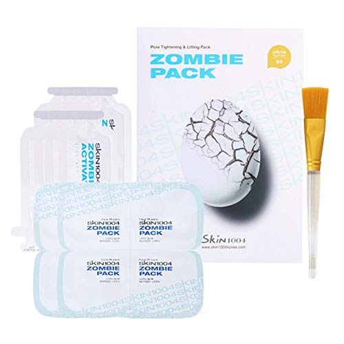 SKIN1004 Zombie Pack - Wash off Face Mask for Aging Skin, Fine Lines Wrinkles, Enlarged Pores, Dryness, Lifting and Hydrating (1 Box (8 masks))