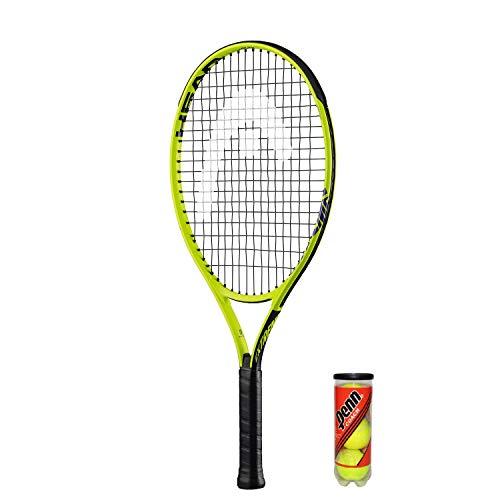 Head Extreme 25 Raqueta de Tenis Junior Grafito + 3 Bolas