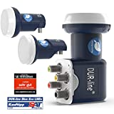 DUR-line Blue ECO Single Stromspar-LNB – 1 Teilnehmer – Premium-Qualität – 1-Fach, digital, Full HD, 4K, 3D - 4