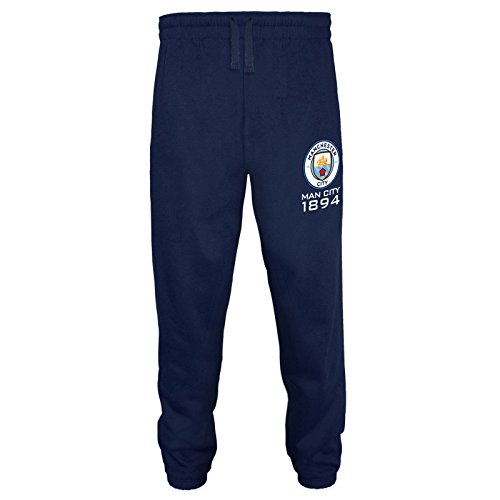 Manchester City FC - Herren Fleece-Jogginghose - Offizielles Merchandise - Geschenk für Fußballfans - Marineblau - XL