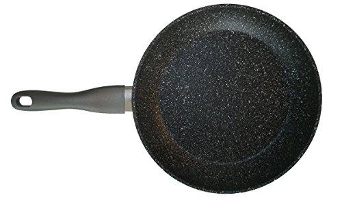 STONELINE® Gourmundo Made in Germany Bratpfanne 28 cm, auch für öl- und fettfreies Braten, Kratzfeste Antihaftbeschichtung mit echten Steinpartikeln, Induktionspfanne