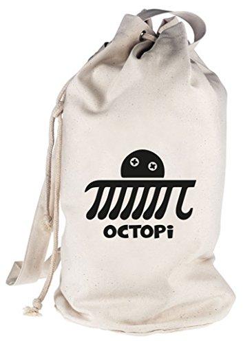 Shirtstreet24, Octopi, bedruckter Seesack Umhängetasche Schultertasche Beutel Bag, Größe: onesize,natur