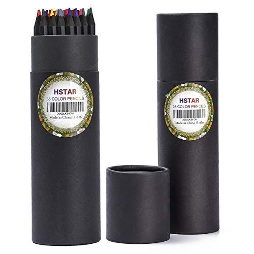 Hstar - Lápices de colores de 36 colores, lápices de dibujo para colorear para adultos, para dibujos, proyectos de manualidades (36 colores)