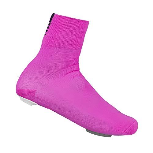 GripGrab Unisex-Adult Primavera Rennrad Übergangs Überschuhe-Aero Knit Überzieher für Radsport-Herren, Damen Shoe Covers Cycling, Pink, Onesize (40-46)