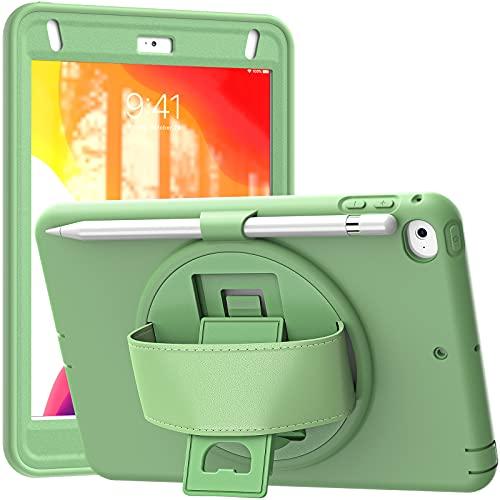 Funda para iPad Mini 5 2019 (5th Generation 7.9 Inch)/ iPad Mini 4 2015, Cubierta Protectora Completa a Prueba de Golpes de Tres Capa con 360° Rotativo Asa de Mano,A03