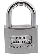 Burg Wächter Hangslot, 8 mm beugeldikte, 2 sleutels, Alutitan 770 50 SB, 50 mm