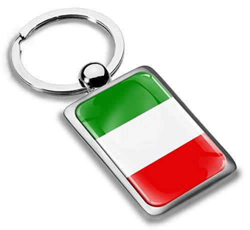 SkinoEu® Llavero de Metal 3D con Diseño de Bandera Nacional Italiana Italia Regalo para Mujeres y Hombres KK 221