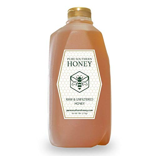 Pure Southern Honey's 100% Raw, Unfiltered, Unheated, Bulk Honey (5 lbs) American Made