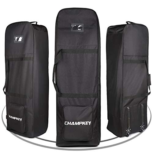 Champkey Traveler Golf Travel Bag - Heavy Duty 900D Polyester Oxford Wear-Resistant, Excellent Zipper Universal Size with Wheels (Black)