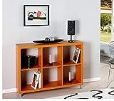 Kit Closet Estantería 'Kubox' 6 huecos naranja