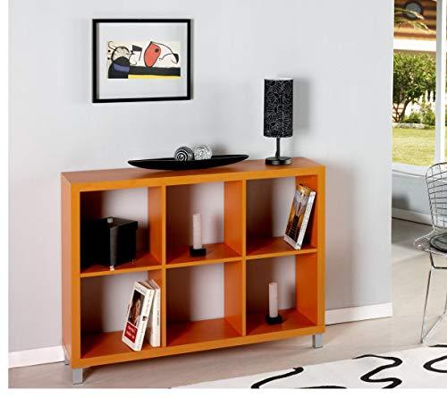 """Kit Closet Estantería """"Kubox"""" 6 huecos naranja"""