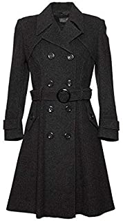 De La Creme Women`s Wool & Cashmere Winter Long Belted Coat