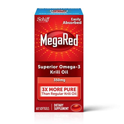MegaRed Omega 3 Krill Oil 350mg Supplement, 60 ea