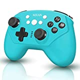 Controlador para Nintendo Switch de 6 ejes ajustable Double Shock Switch Pro Controller antideslizante compatible con Switch (azul)