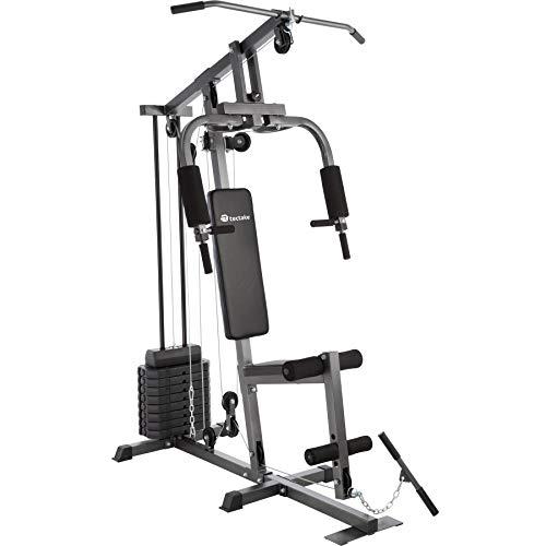 TecTake Multiestación Maquina de musculación | Módulo de Mariposa | Estribo para piernas | 8x4,5 kg & 1x3,5 kg | Barra - Varios Modelos (Typ 1 | No. 402756)