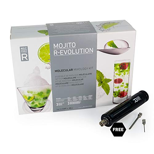 Molecule-R - Mojito Molecular Mixology Kit + FREE Culinary Syringe - Learn How to Make Mojito Bubbles - MOJITO R-EVOLUTION