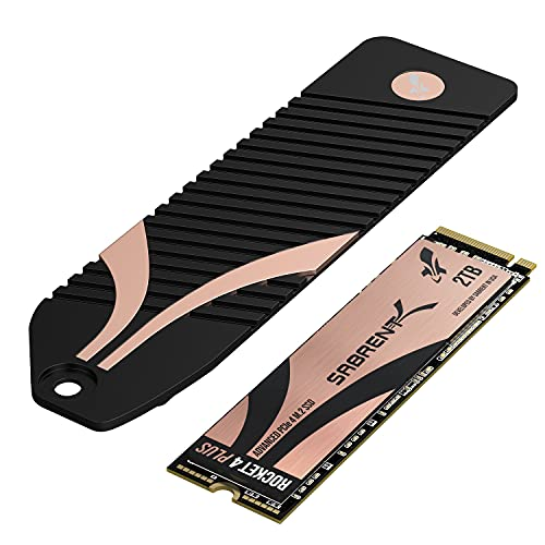 Sabrent 2TB Rocket 4 Plus NVMe 4.0 Gen4 PCIe M.2 Internal Extreme Performance SSD + M.2 NVMe PS5...