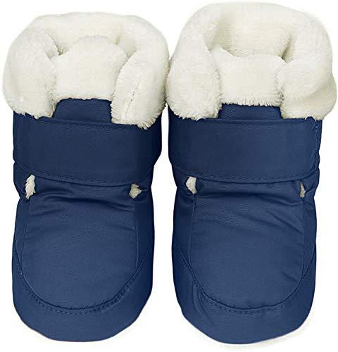 KVbaby Krabbelschuhe Baby Warm Halten Lauflernschuhe Winter Winddicht wasserdicht Schneestiefel Weiche Sohlen Krippe Schuhe Stiefel