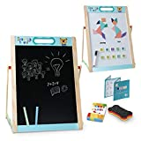 Arkmiido Wooden Portable Easel for Kids, Compact Board Small Size 38 X 49