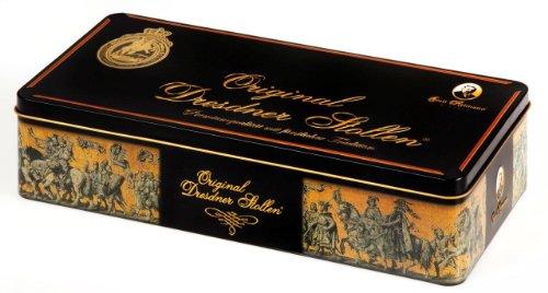 Emil Reimann Dresdner Stollen in Black/gold Gift Tin - 1,000g / 35.6 Oz