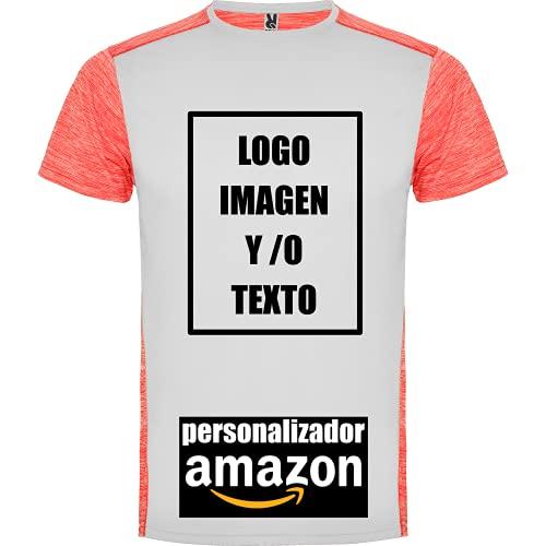 rainUP – Camiseta Deportiva Personalizable Hombre Niño – Running Entrenamiento - Manga Corta – Puedes añadir tu Frase, Logo o Imagen Personalizada