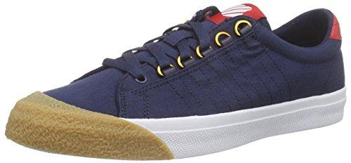 K-Swiss Herren Irvine T Sneaker, Blau (Dress Blues/Ribbon Red/Dark Gum), 44.5