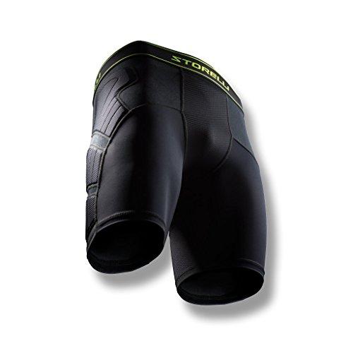 Storelli Pantaloncini Imbottiti Anti Impatto Unisex BodyShield | Pantaloncini protettivi Imbottiti per Calcio | Protezione avanzata per la Parte Inferiore del Corpo | Nero | Youth Medium