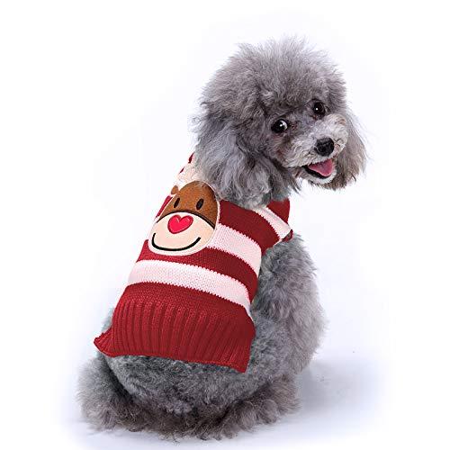 Raking Kerst Gebreide Katoen Hond Hoody Coltrui Jumper Kostuum Kleding Outfit