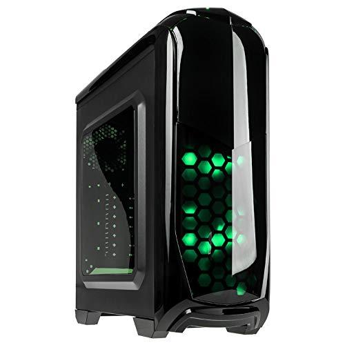KOLINK Aviator Midi-Tower - PC-Gehäuse mit Seitenfenster - ATX - schwarz/grün