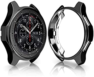 For Samsung Galaxy Watch 46mm bumper Smart Watch accessories Plating TPU protection shell Cover frame black