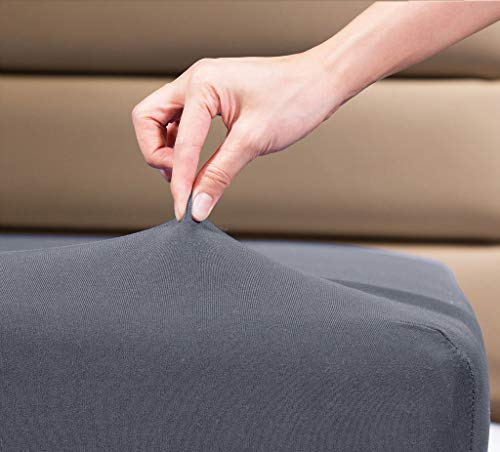 "Fitted Sheet- COSMOPLUS King Fitted Sheet Only(No Flat Sheet or Pillow Shams),4 Way Stretch Micro-Knit,Snug Fit,Wrinkle Free,for Standard Mattress and Air Bed Mattress from 8"" Up to 14"",Gray"