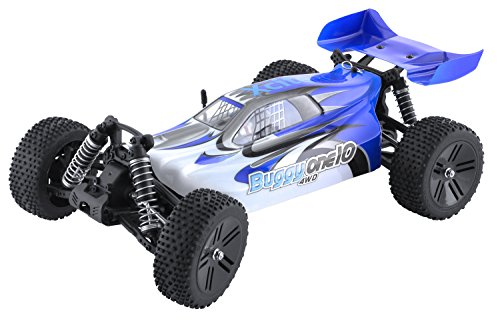 XciteRC 30307000 - Ferngesteuertes RC Auto - Buggy one 10 4WD RTR Modellauto M1:10, blau