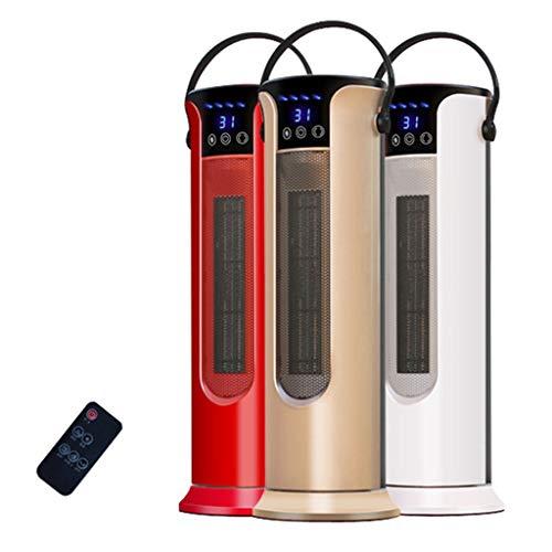 KY Konvektor Heizung Heizkörper Heizung Tragbare Oszillierende 2000 Watt PTC Keramikturm Heater, 2 Heizstufen, Einstellbarer Thermostat und Sicherheit Cut-Off (Color : White)
