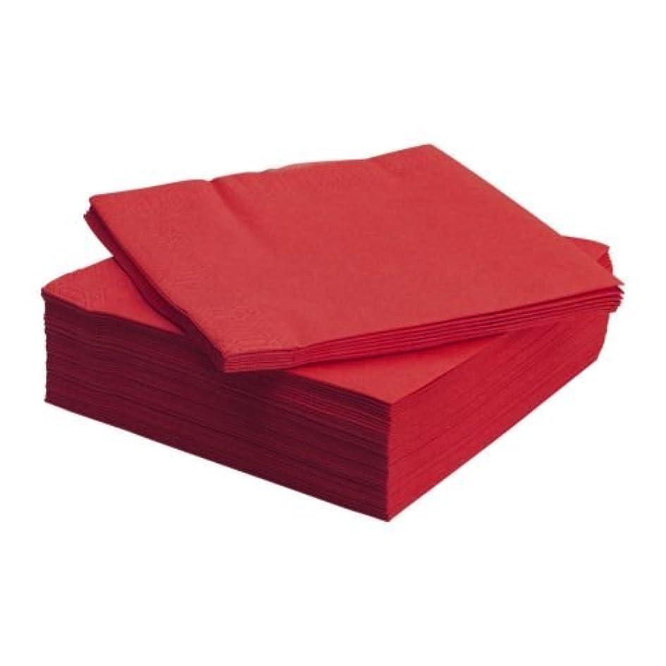 義務有料発表IKEA(イケア) FANTASTISK 40x40 cm 50176105 ペーパーナプキン、レッド