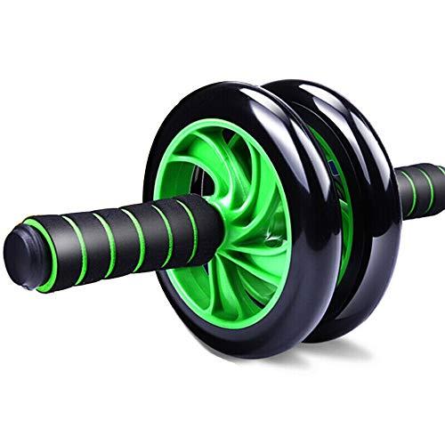 Outdoor Life Doppel-Rädern Bauchtrainer, Lautlos Bauchmuskeln Roller, Grün Fitness-Ausrüstung, for Bewegung, Gewichtsverlust, Body Shaping