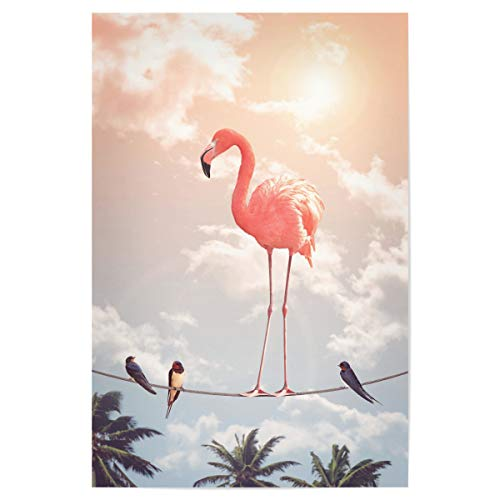 artboxONE Poster 30x20 cm Flamingo Natur Flamingo & Friends - Bild Flamingo Animal Friends