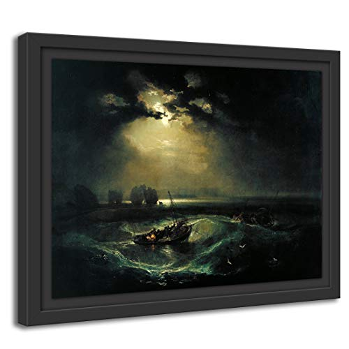 Printed Paintings Schattenfugenrahmen (100x70cm): William Turner - Fischer auf See